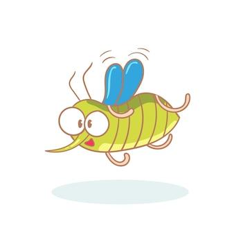 Mosquito de personagem de desenho animado