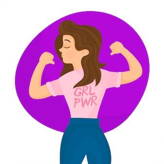 Mostrando poder. feliz dia da mulher conceito
