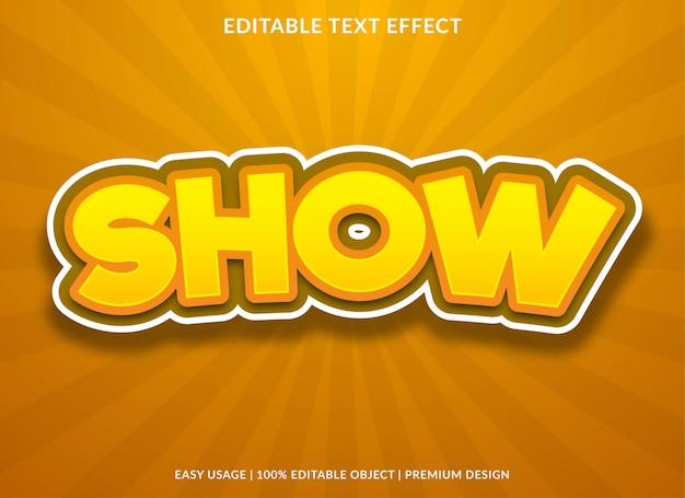 Mostrar efeito de texto com estilo negrito