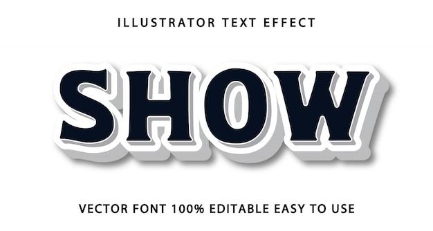 Mostrar efeito de texto editável