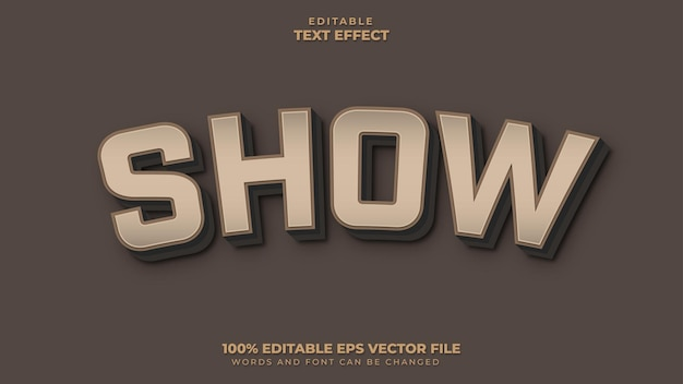 Mostrar efeito de texto
