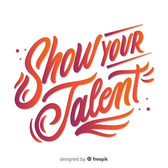 Mostre seu talento lettering