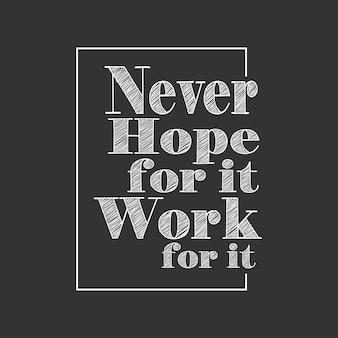 Motivação de tipografia desenhada de mão