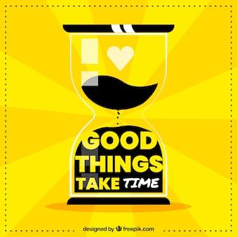 Motivação moderna citação na cor amarela
