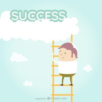 Motivacional sucesso vector