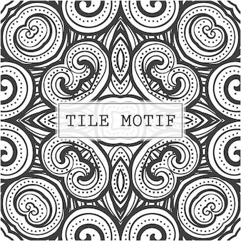 Motivo abstrato em azulejo com padrão de estilo étnico