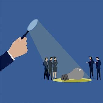 Motivo da pesquisa da equipe de negócios