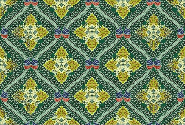Motivo de batique indonésio em cores modernas