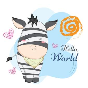 Motivo de cadeia de bebê zebra