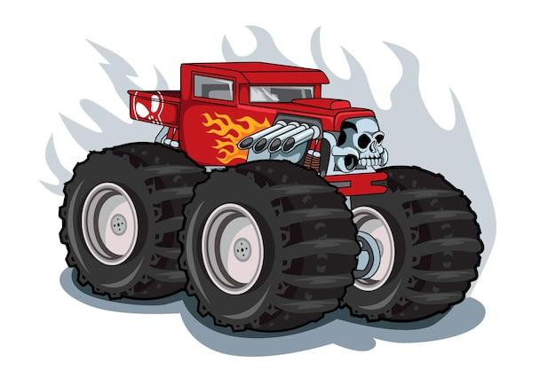 Motivo do crânio do caminhão monstro