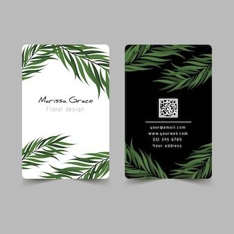 Motivos naturais para o conceito de cartão de visita
