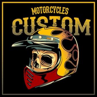 Moto de bicicleta personalizada com piloto