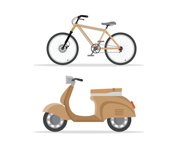 Moto scooter e moto.