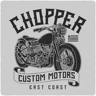 Motocicleta chopper
