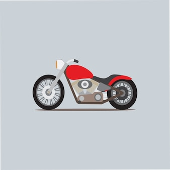 Motocicleta clássica personalizada