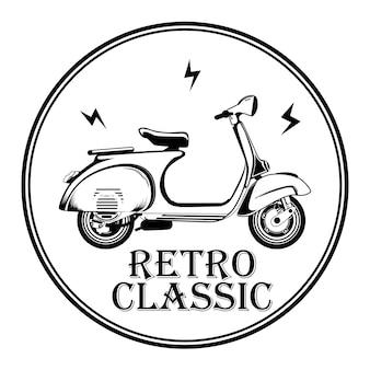 Motocicleta clássica retrô