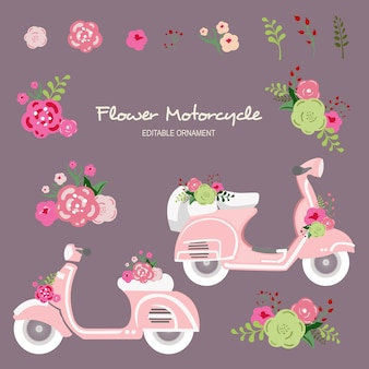 Motocicleta de flores