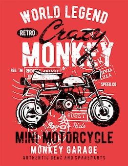 Motocicleta de macaco louco