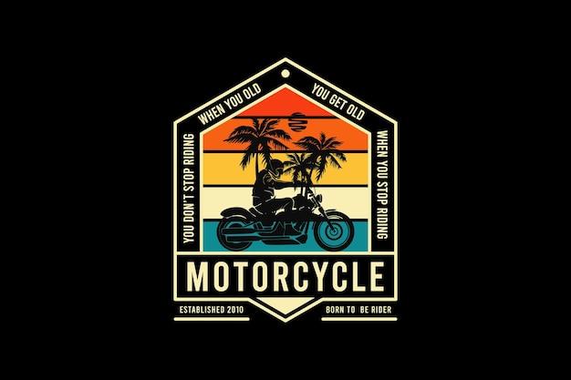 Motocicleta, design estilo retro silt
