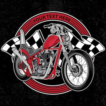 Motocicleta do clube de logotipo de design