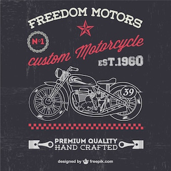 Motocicleta do vintage livre para downlaod