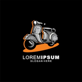 Motocicleta logotipo design ilustração