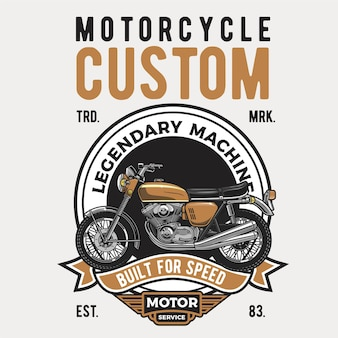 Motocicleta marrom
