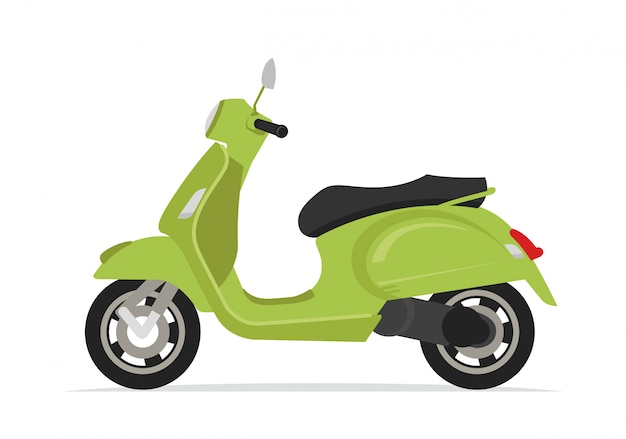 Motocicleta scooter verde motocicleta