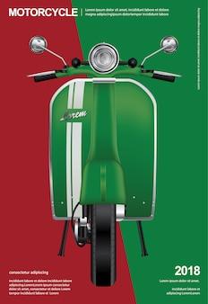Motocicleta vintage isolado ilustração