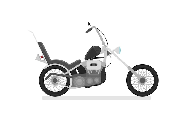 Motocicleta. vista lateral, perfil.