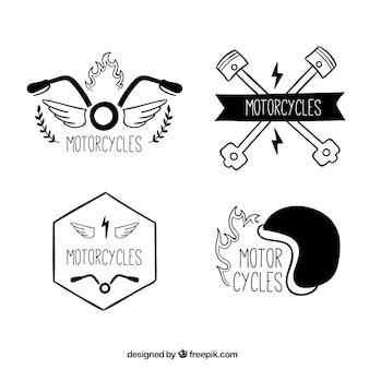Motocicletas, logos mão desenhada