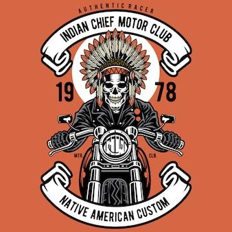 Motociclista chefe indiano