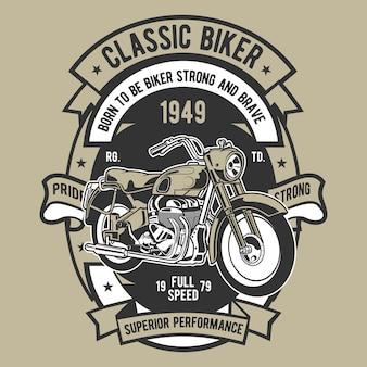 Motociclista clássico
