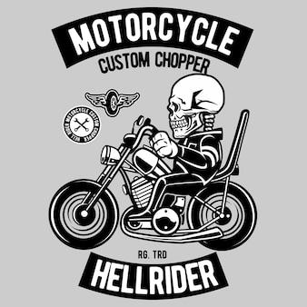 Motociclista crânio chopper