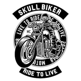 Motociclista do crânio