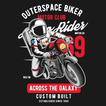 Motociclista do outerspace