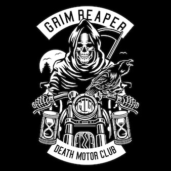 Motociclista grim reaper