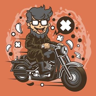 Motociclista hipster