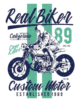 Motociclista real