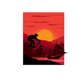 Motociclistas e navio