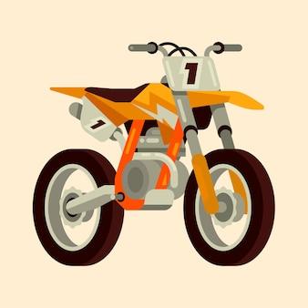 Motocross, bicicleta, ícone
