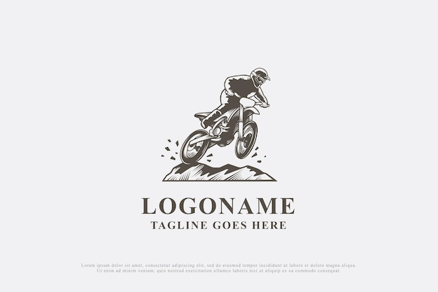 Motocross de design de logotipo vintage