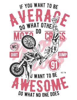 Motocross impressionante