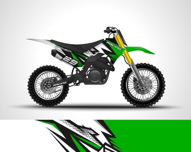 Motocross wrap decalque e adesivo de vinil illustraton