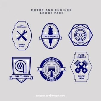Motor coleção logotipos do vintage