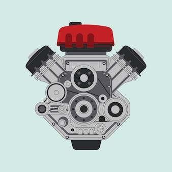 Motor de carro moderno