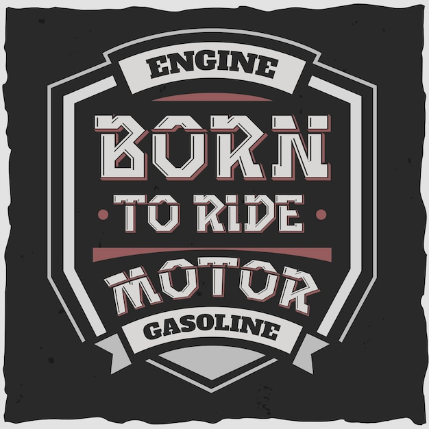 Motor de emblema e gasolina