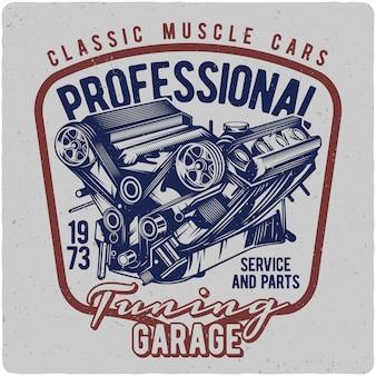 Motor do carro do músculo