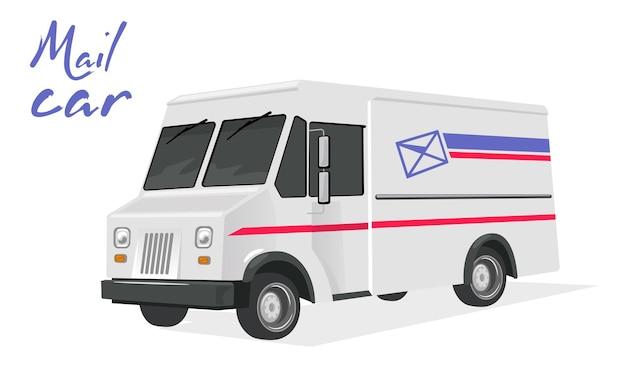 Motorista ou mensageiro em caminhão de entrega expressa
