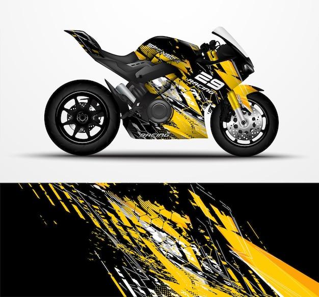 Motos sportbikes envolvem decalque e adesivo de vinil.